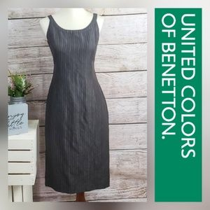 United Colors of Benetton Brown Pinstripe Dress